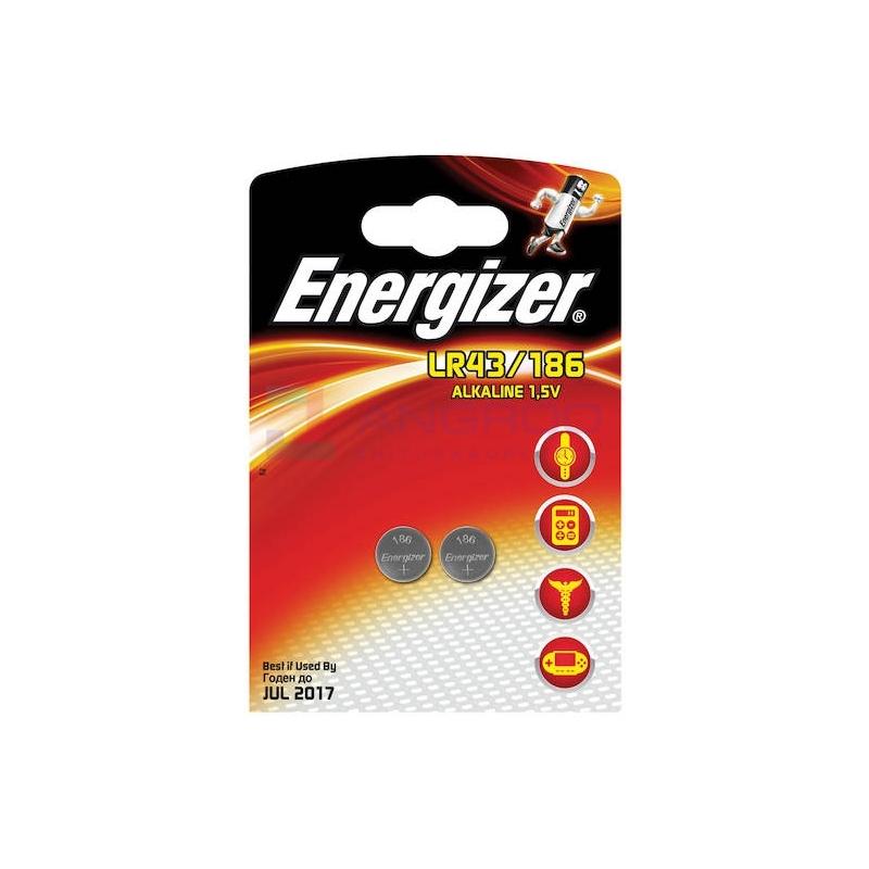 PATAREI ENERG. LR43/186 1,5V 2TK 00005