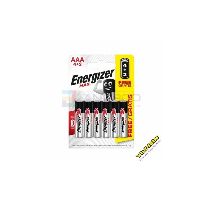 PATAREI ENERG. AAA(LR03)MAX 4+2 tk 40066