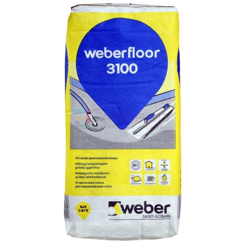 weber 3100 Põrandaviimistlus 0-10mm,20kg