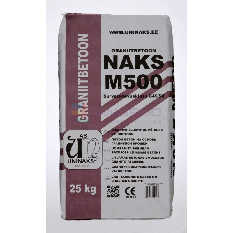 UNINAKS GRANIITBETOON M-500 25kg