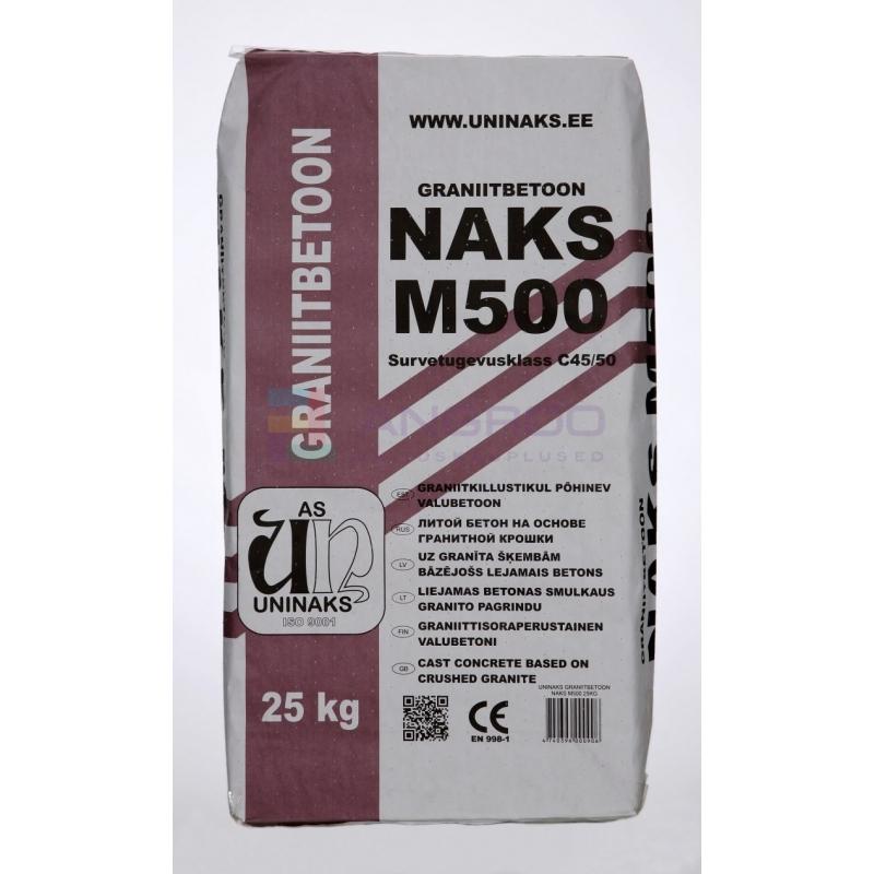 UNINAKS GRANIITBETOON M-500 25kg TALVE